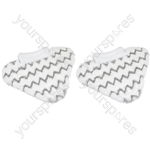 Shark Compatible Lift-Away Pro Steam Mop Microfiber Pad Cloth Pack of 2